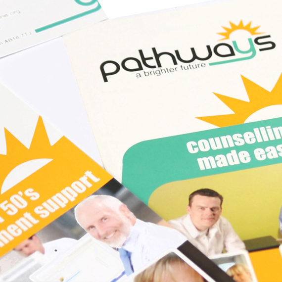 Pathways <br><br><h5>Branding, Web Design, Flyers, Printing, Corporate Gifts</h5>