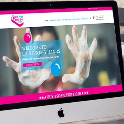Little Soapy Hands <br><br><h5>Branding, Web Design, Corporate Gifts, Photography</h5>