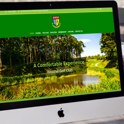 Westhill Golf Club <br><br><h5>Web Design, Corprate Gifts, Signage, Golf Tags, Photography</h5>